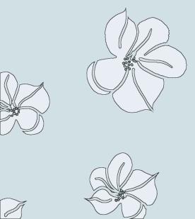 Tossed Floral_WebBckgrnd_aqua blck outlne2_2009
